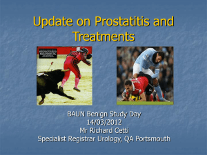 Update on Prostatitis and Treatments