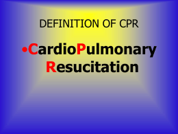 CPR In Three Simple Steps