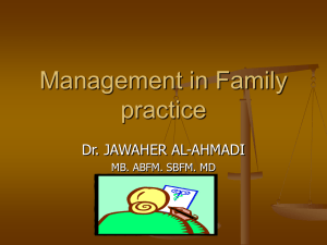 Manegment in family practice