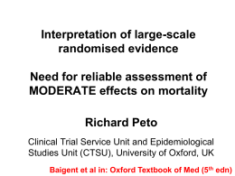 Large-Scale Randomised Evidence