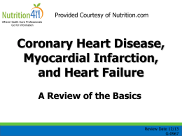 G-0967 Coronary Heart Disease, Myocardial