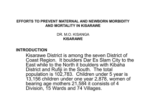 EFFORTS TO PREVENT MATERNAL AND NEWBORN