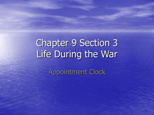 Chapter 9 Section 3 Life During the War