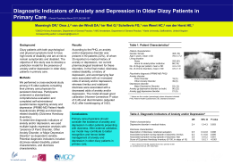 Diagnostic Indicators of Anxiety and Depression in Older