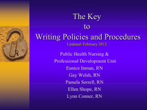 Key to Writing Policies and Procedures Part 1