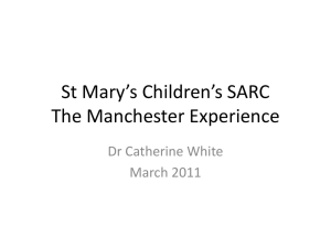 St Mary`s Children`s SARC A five year retrospective