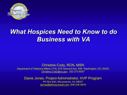 What Hospices Need to Know to Do Business with VA