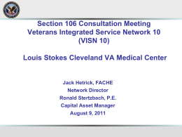 Section 106 Consultation Meeting - VISN 10