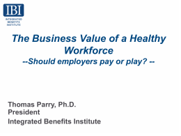 Should employers pay or play? - Kentuckian Health Collaborative