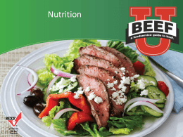 Beef Nutrition - Georgia Beef Board