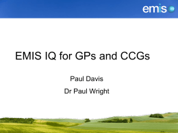 EMIS IQ for GPs and CCGs