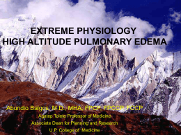 Extreme Physiology and HAPE by dr. Abundio Balgos