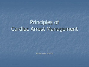 Principles of Cardiac Arrest Management