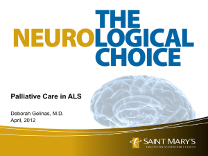 Palliative Care in ALS