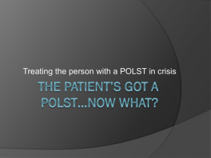 The Patient`s got a POLST…now what?