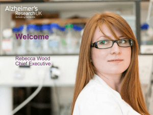 Alzheimer`s Research UK - Rebecca Wood
