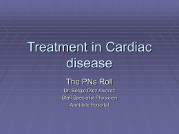 Treatment in Cardiac disease - Barwon Division of General Practice