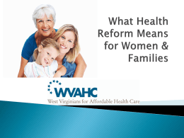 ACA and Women`s Health Power point