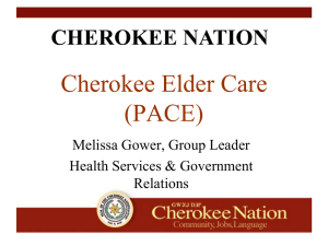 cherokee nation - The Oklahoma Health Care Authority