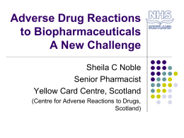 Adverse Drug Reactions to Biopharmaceuticals Presentation 2013