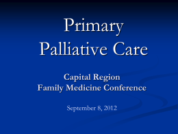 Palliative Care & Hospice - New York State Academy of Family