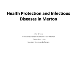 Health Protection in Merton