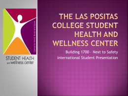 The Las Positas College Student Health Center