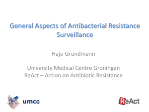 General Aspects of Antibacterial Resistance (ABR) Surveillance