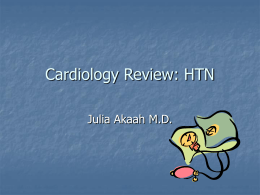 Cardiology Review: HTN