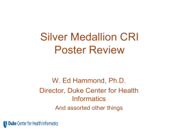slides - Duke Center for Health Informatics