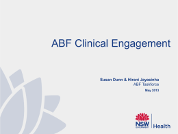 Susan Dunn and Hirani Jayasinha, NSW ABF Taskforce