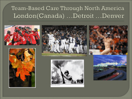 Team-Based Care - PowerPoint Presentation Example