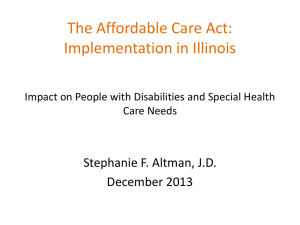 Affordable Care Act Presentation by Stephanie