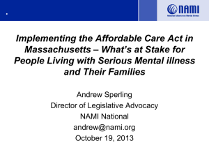 ACA and Parity PPT Presentation slides