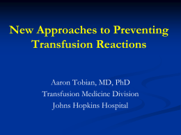 Evidenced Based Medicine with the Prevention of Transfusion