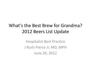What`s the Best Brew for Grandma? 2012 Beers List Update