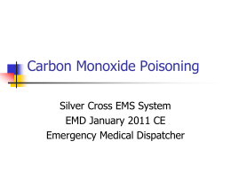 Carbon Monoxide Poisoning - Silver Cross Emergency Medical