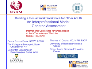 Building a Social Work Workforce for Older Adults