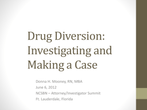 Conducting a Drug Diversion Investigation