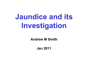 jaundice (27th January) - Back to Medical School