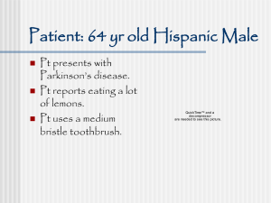 Patient: 64 yr old Hispanic Male