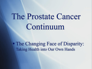 WWPCC: The Prostate Cancer Continuum