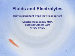 Powerpoint Presentation - Fluids and Electrolytes