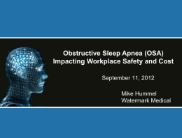 Sleep Apnea - Mike Hummel