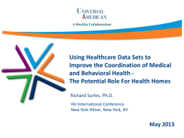 Using health datasets to improve the coordination of medical