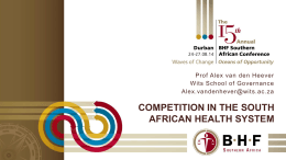 Competition in Healthcare