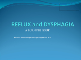 REFLUX and Dysphagia - Jan