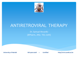 Antiretroviral Therapy PPT Presentation