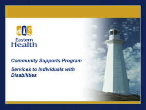 Eastern Health Community Supports Program