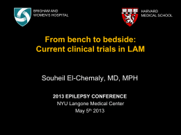 Current clinical trials in LAM